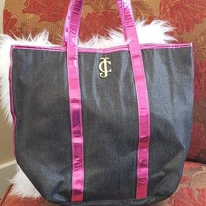 Juicy Couture denum and bright pink tote